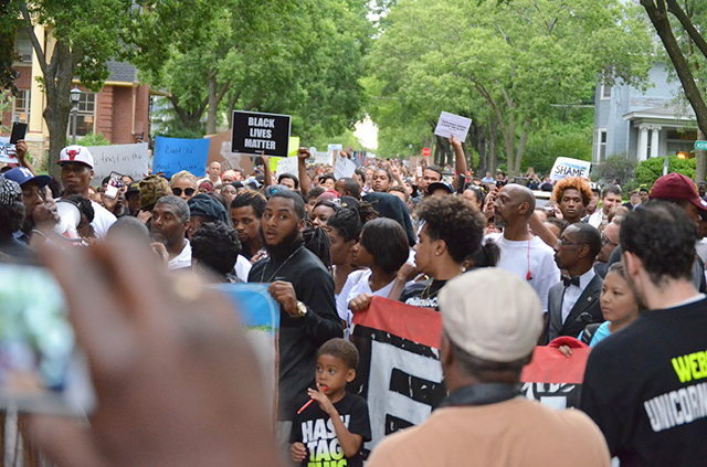 The march between the school and the governor's residence