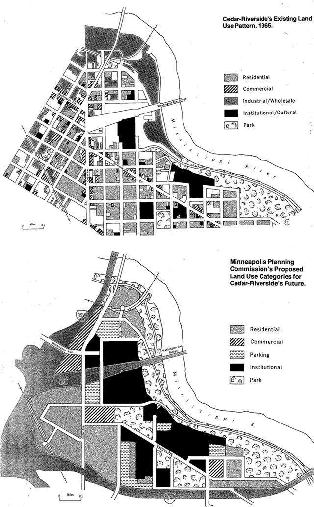 From 1965: Cedar-Riverside's existing land-use plan