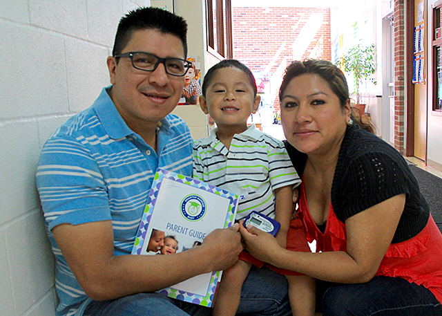 Luis and Andrea Chiqui with their son, Alen.