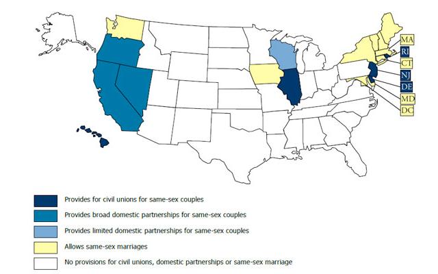 State laws regarding civil unions