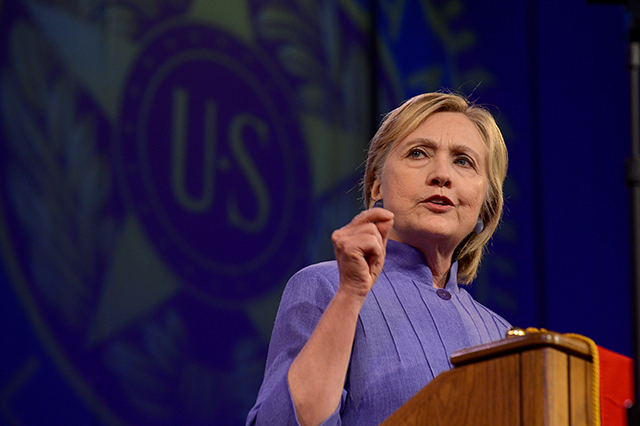 Hillary Clinton addressing the National Convention of the American Legion
