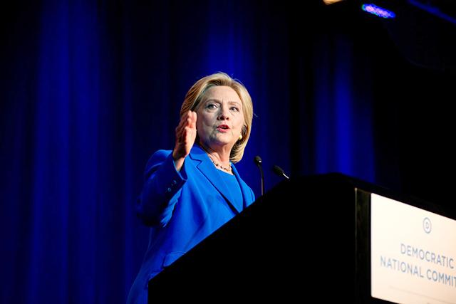 Hillary Clinton speaking