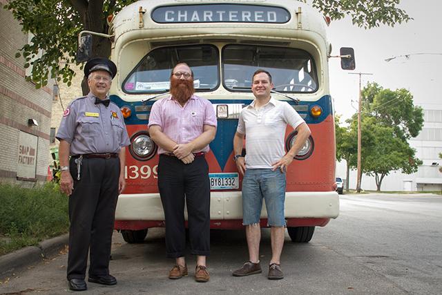 MTC bus driver, Andy Sturdevant and Sergio Vucci.