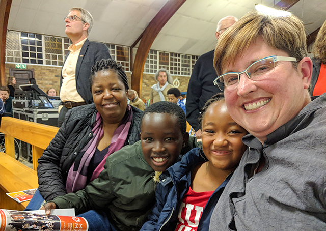 From left to right: Josephine, Tebogo, Keo and Jill Chamberlain