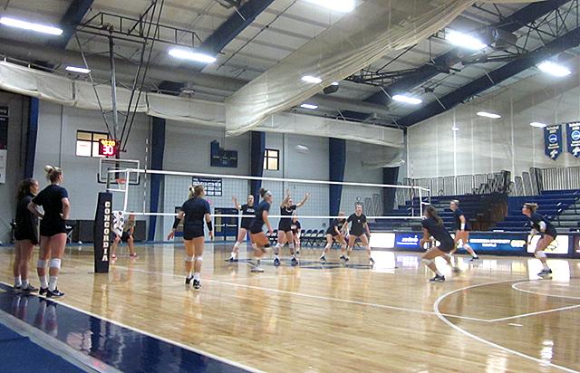 The Concordia University Golden Bears at practice on Nov. 2.