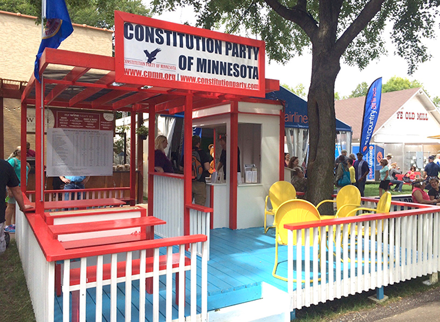 The Constitution Party of Minnesota booth.