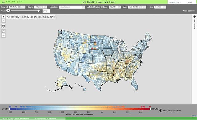 an interactive data visualization tool