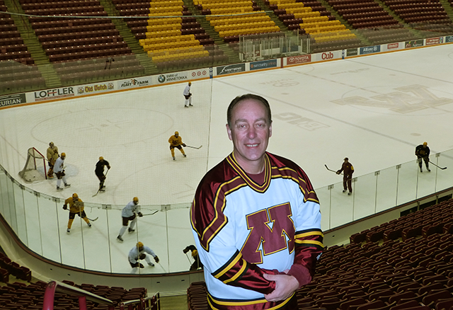 Cully Orstad, the hockey and basketball Goldy in 1985-86