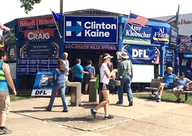 The Minnesota DFL booth.