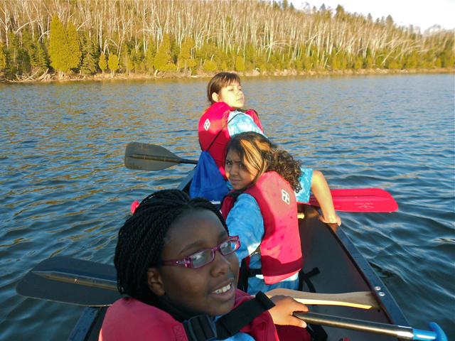 Canoeing on Wolf Lake.