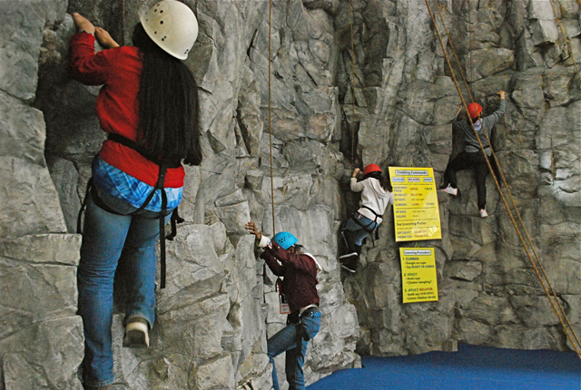 None of these girls had ever done this before. They climbed like spiders.