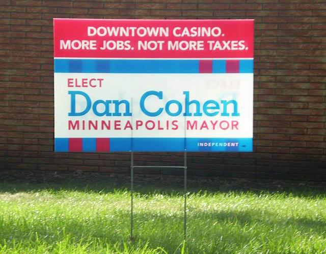 Dan Cohen lawn signs