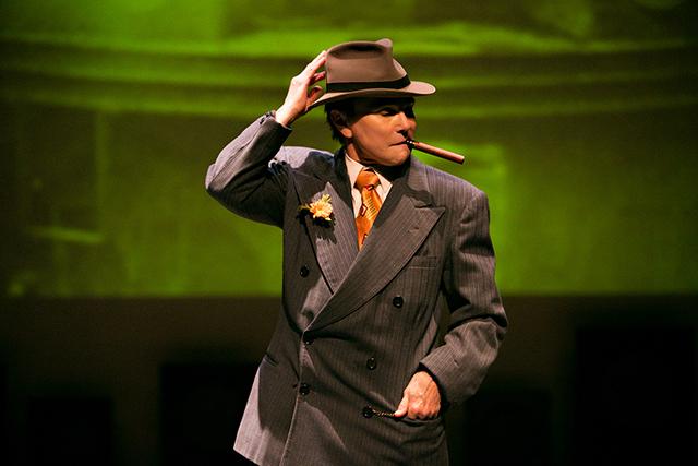 "Tovah Feldshuh as Joe ""Yussel the Muscle"" Jacobs in ""Dancing with Giants."""