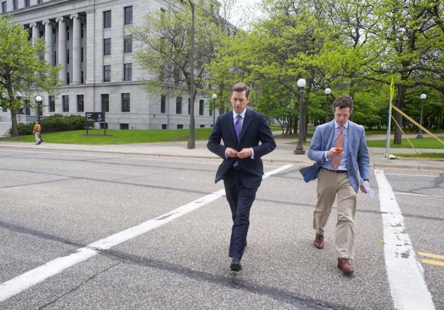 House Speaker Kurt Daudt, left, and his executive director Ben Golnik