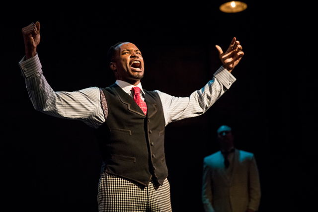 "David L. Murray Jr. as Coalhouse Walker Jr. in Theater Latte Da's ""Ragtime."""