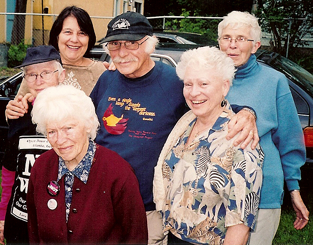 Marv Davidov pictured with nuns from the Sisters of St. Joseph.