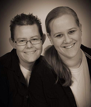 Dawn Tuckner, left, is seeking a divorce so she can be with her new long-term partner, Stacy Lapoint.