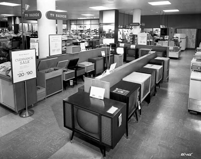 Television, radio and phonograph department, Dayton's Southdale store