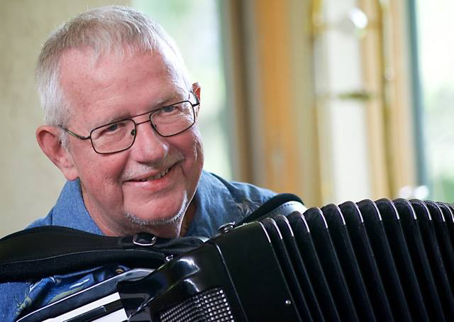 Denny Malmberg, one of the performers at this year's Accordion-O-Rama