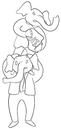 Elephants taking Wisconsin