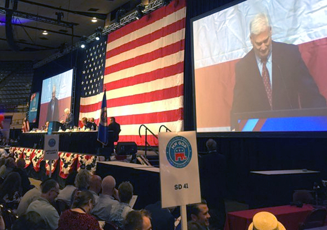 Rep. Tom Emmer delivered a speech critical of Hillary Clinton