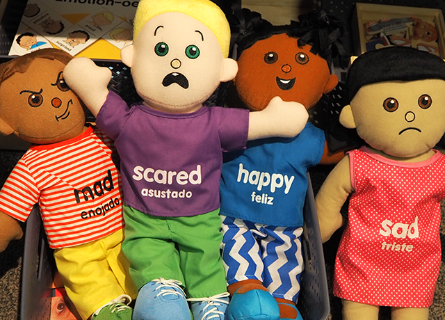 """""""Emotion dolls"""" will be available for kids visiting the exhibit."""