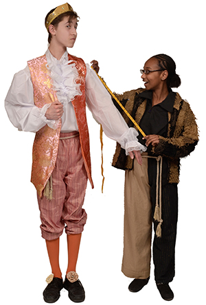 Mateo Reyes as the Emperor and Asla Hashel as Yoko the Tailor