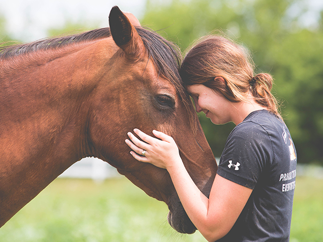 Equine therapy offers a nontraditional approach to healing.