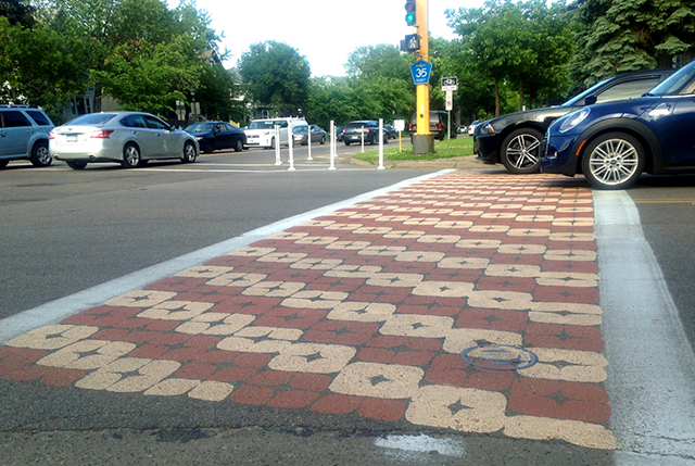 """A """"creative crosswalk"""" at Fairview and Marshall in St. Paul."""