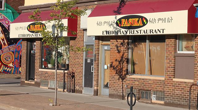 Fasika Restaurant, located along Snelling Avenue in St. Paul