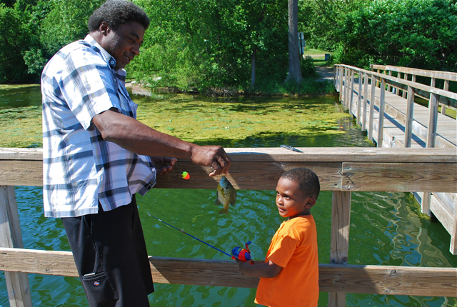 Vernon and grandson Terrell