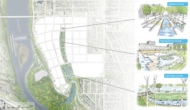 Proposed stormwater zones.
