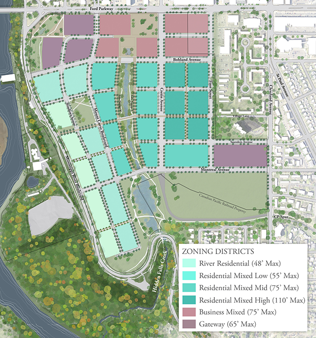 Proposed residential and business use for the former Ford Plant site.