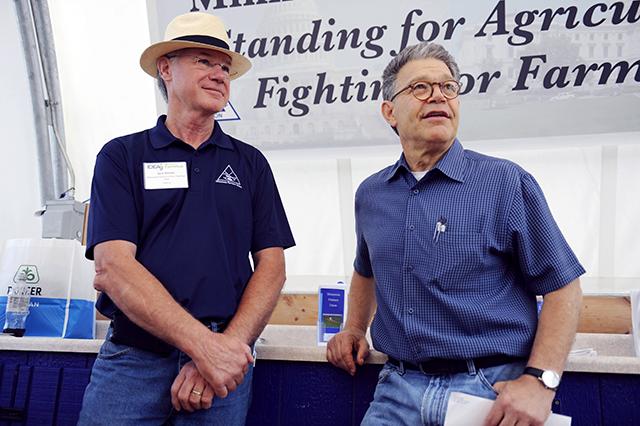 Gary Wertish with Sen. Al Franken