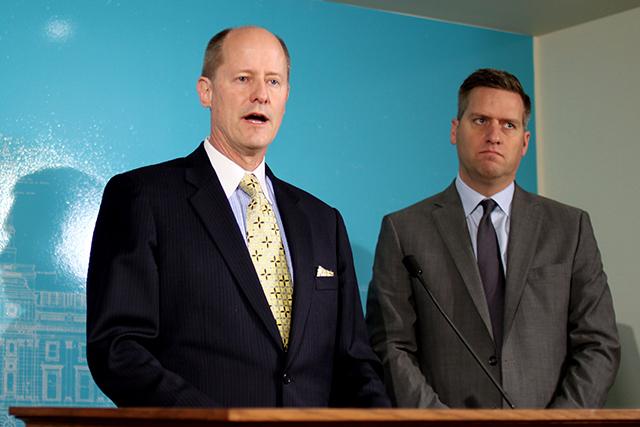 Senate Majority Leader Paul Gazelka and House Speaker Kurt Daudt