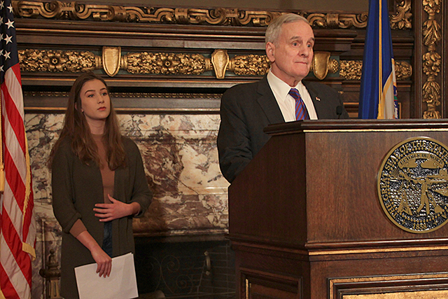 Eva Goldfarb, Gov. Mark Dayton