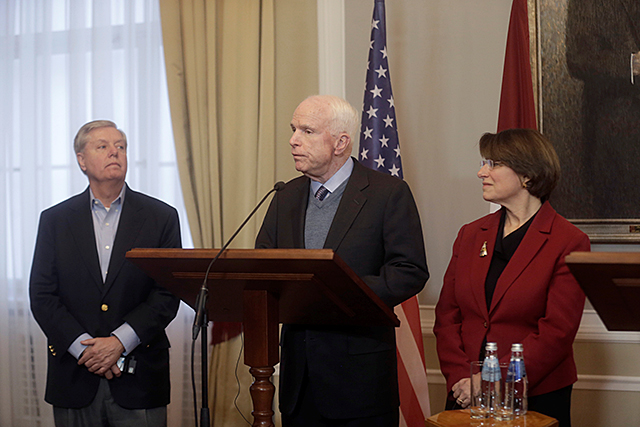 Sens. Lindsey Graham, John McCain, and Amy Klobuchar
