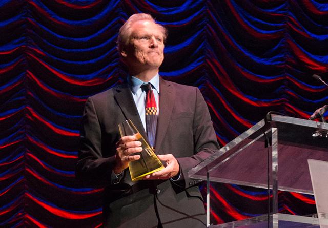 Graydon Royce receiving the Lifetime Achievement Award