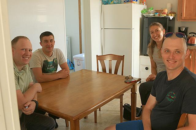 Andrii Lyseniuk, Oleksandr Sudoma, Mariana Pykivska and Alexander Oleksandruk