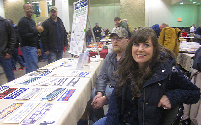 Libertarian Party vendor Hannah Nicollet