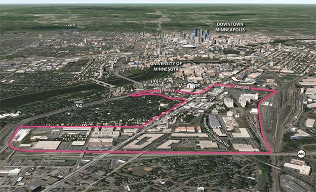 the Southeast Minneapolis Industrial area
