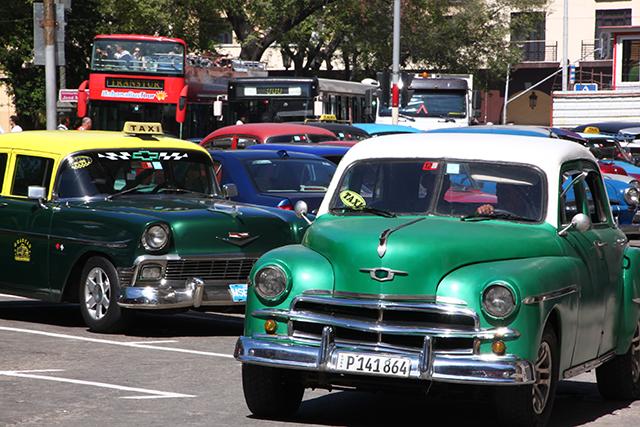 Cuba's famous 1950s American cars