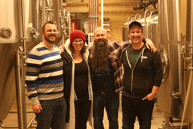 Headflyer's Neil Miller, Amy Miller, Nate Larson and Austin Lee.