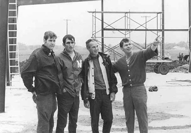 Hal Bakke, Lou Nanne, Roger Christian and Stan Makita