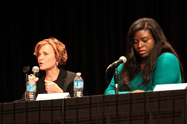 Mayor Betsy Hodges and Nekima Levy-Pounds