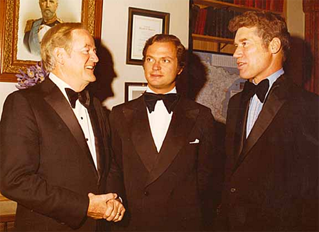 Sen. Hubert H. Humphrey and Gov. Wendell Anderson with King Carl Gustaf