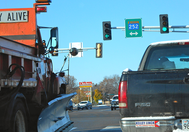 The intersection of Minnesota Hwy. 252 and 66th Avenue