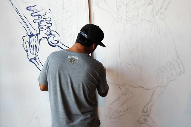 Artist Tomas Araya Biagetti