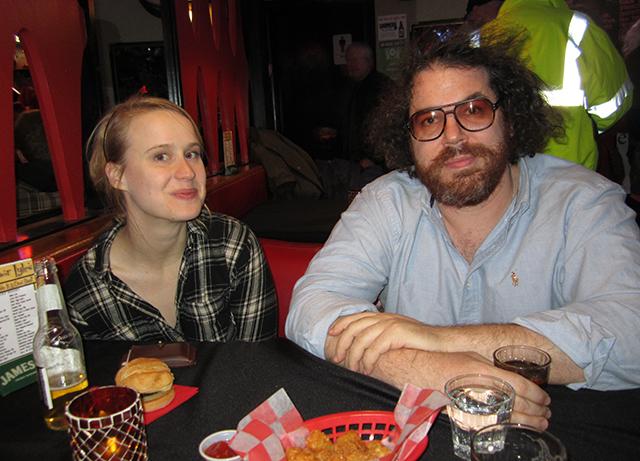 Hannah Sayle and Steve Marsh