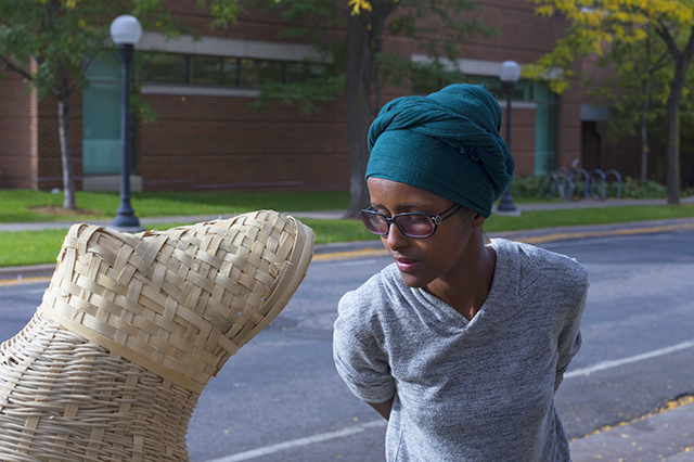 Local artist and community leader Ifrah Mansour